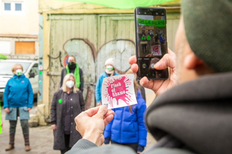 Housing Action Day 2021 Kundgebung: Vida la Bernie, Initiative Sternbrücke, Was knallt am dollsten? & St. Pauli Code JETZT! Foto: Viva la Bernie