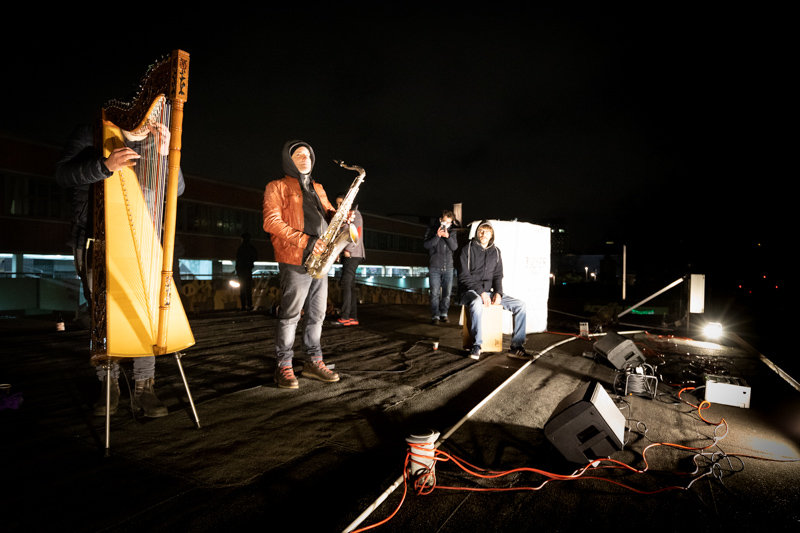 Bäume statt Paulihaus auf St. Pauli. Kundgebung mit: Initiative Sternbrücke, Holstenareal-Initiative, Gruppe Sternbäume bleiben. Musik von saxyarpa