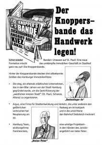 Schon wieder Banden-Unwesen auf St. Pauli: Eine neue Formation mischt das umkämpfte Immobilien-Geschäft im Stadtteil ganz neu auf: Die Knoppersbande.