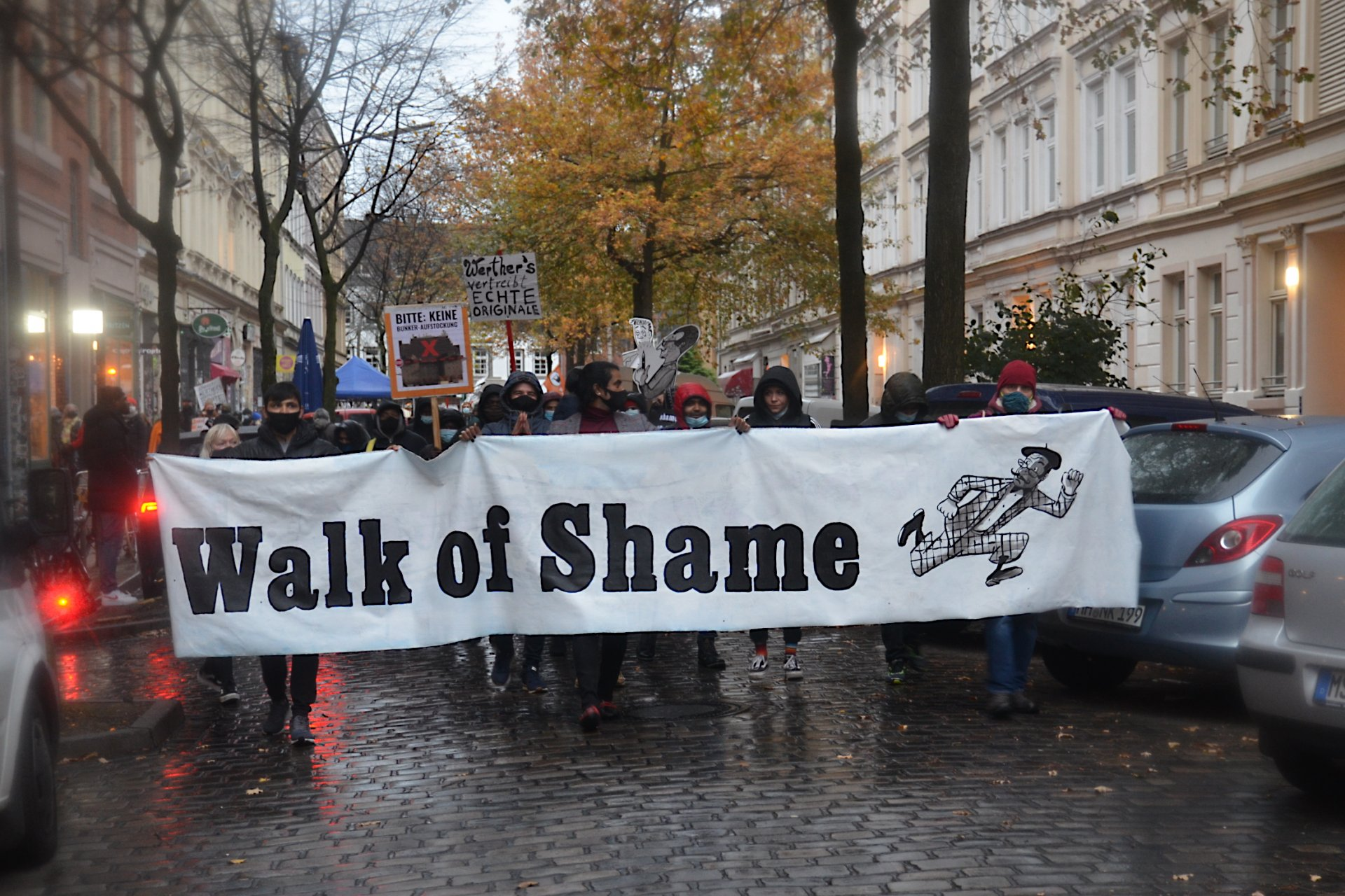 Walk of Shame Demo am 21.11.2020 - Foto: Birgit Otte
