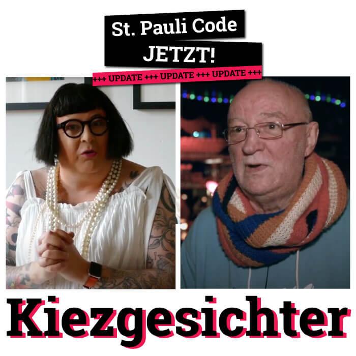 Die beiden berühmten Kiezgesichter Didine und Horst sprechen sich gegen das Paulihaus aus.