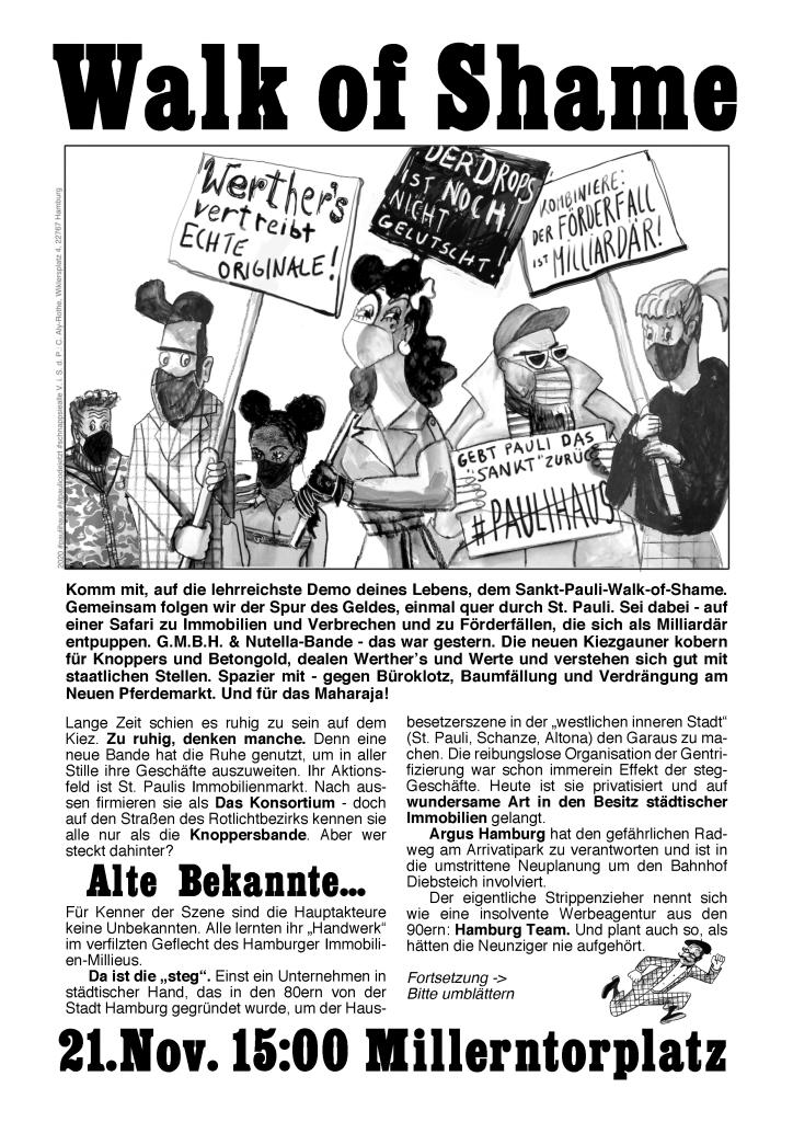 Walk of Shame Plakat zum selber ausdrucken. 21.11.2020 geht's los.